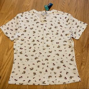 NWT Ardene organic cotton t-shirt with floral print